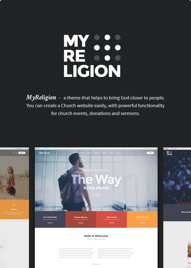 My Religion Church WordPress Theme