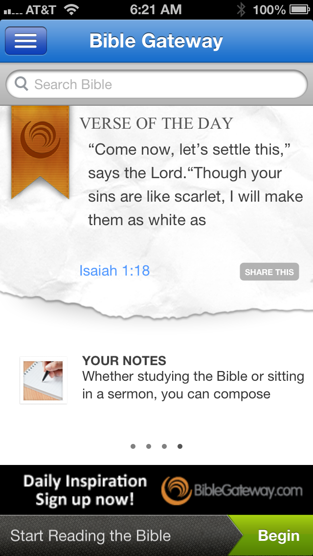Bible Gateway iPhone App