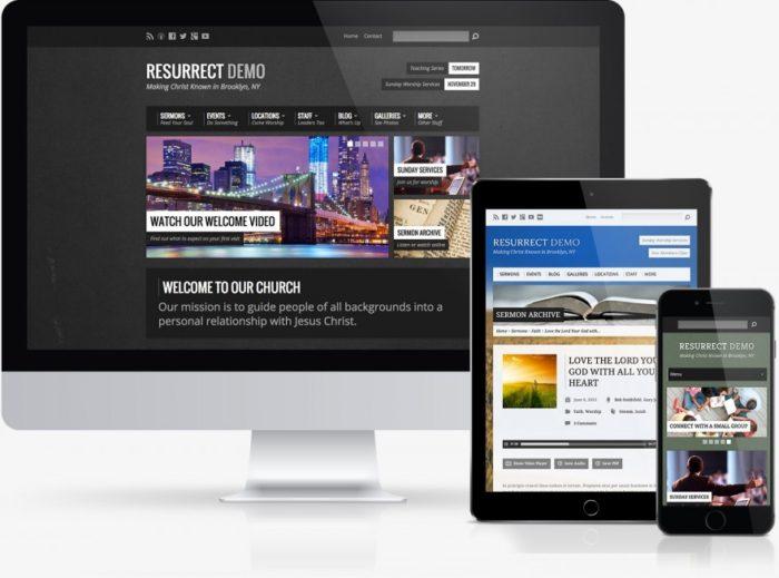 Resurrect WordPress Theme for Churches