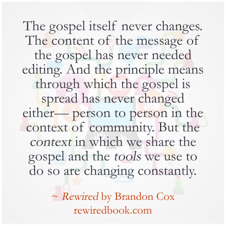 Gospel Never Changes