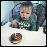 First Birthday. First Donut