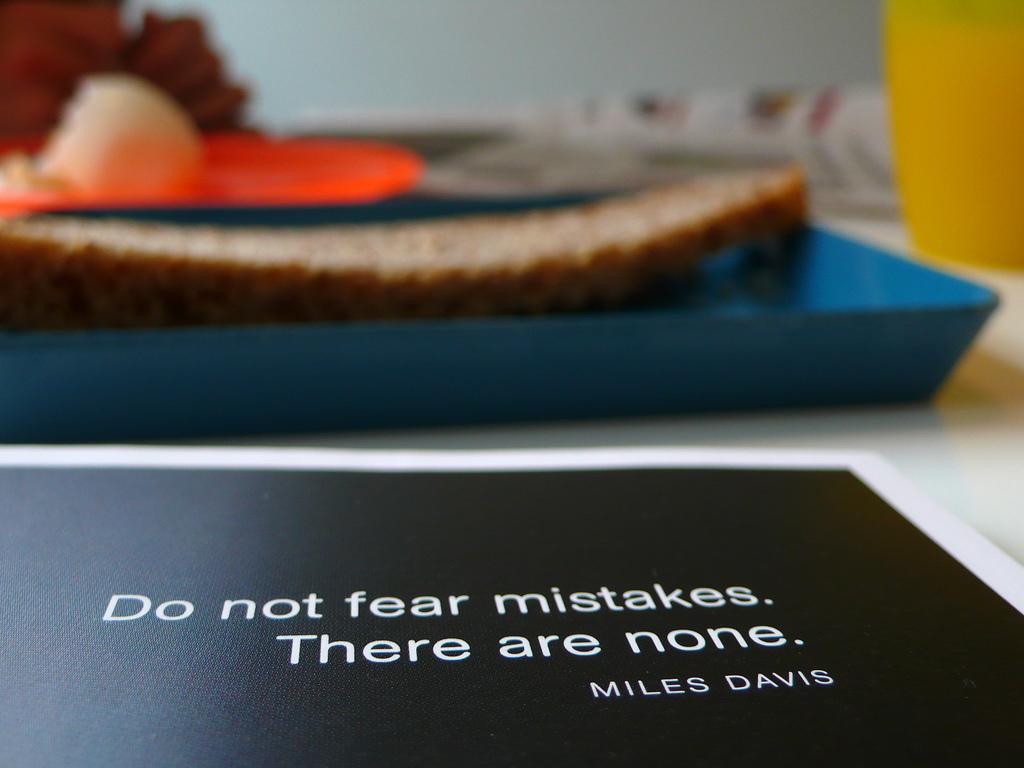 Miles Davis on Mistakes