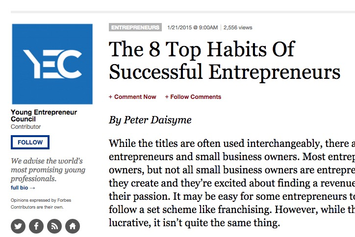 5 Great Habits for Spiritual Entrepreneurs from Forbes Magazine