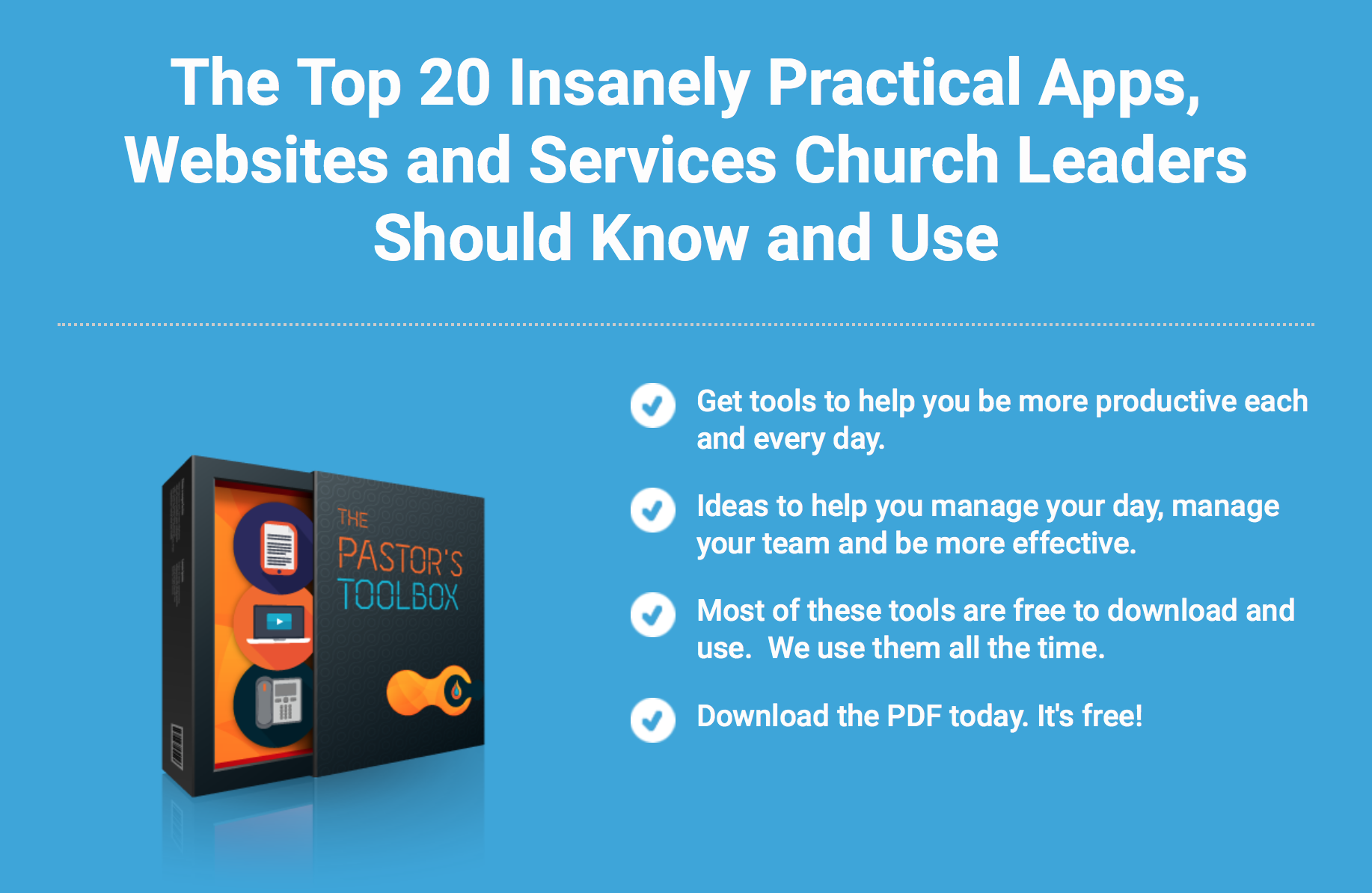 A Big Toolbox of Tools for Pastors