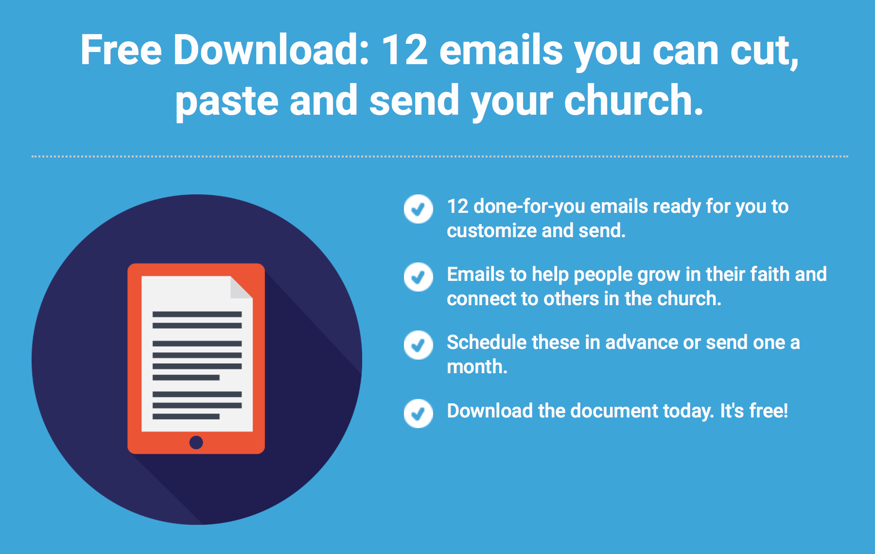 12 Emails to Send Your Congregation