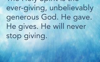 Spirit-driven Generosity
