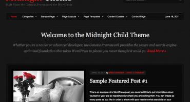 StudioPress Midnight Theme