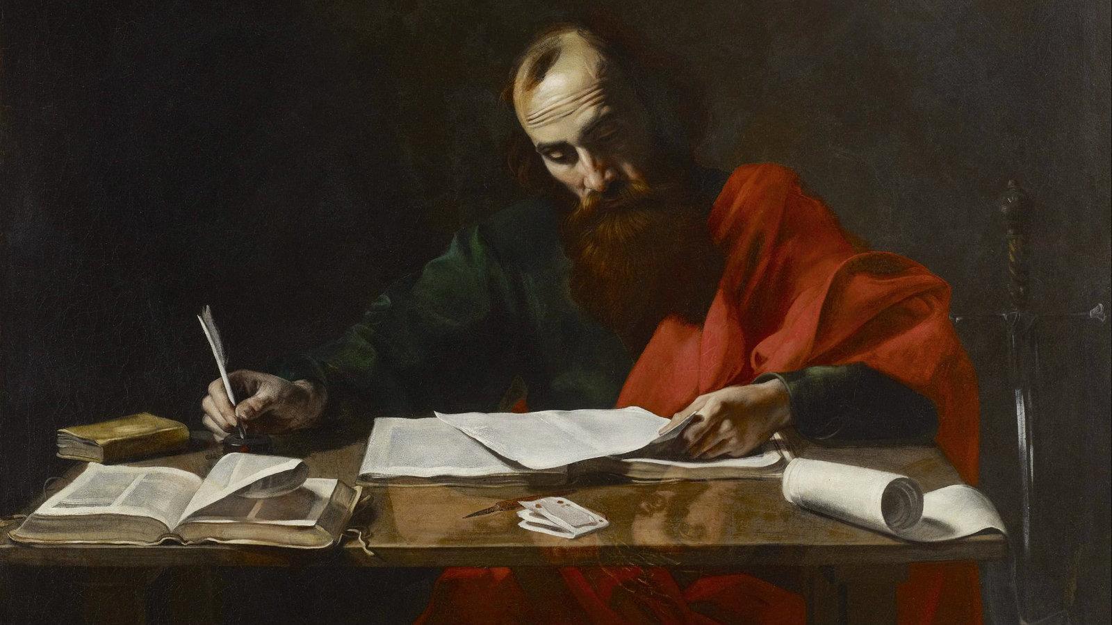 The Apostle Paul Writing Books