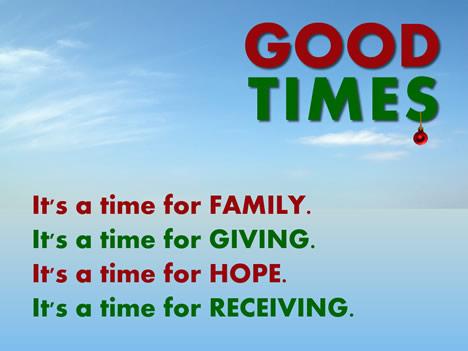 Christmas: Good Times