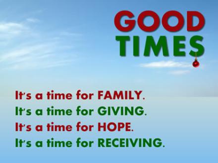 Christmas Sermon Series: GOOD TIMES