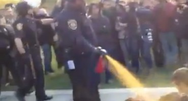 Police Pepper Spray Peaceful Protestors