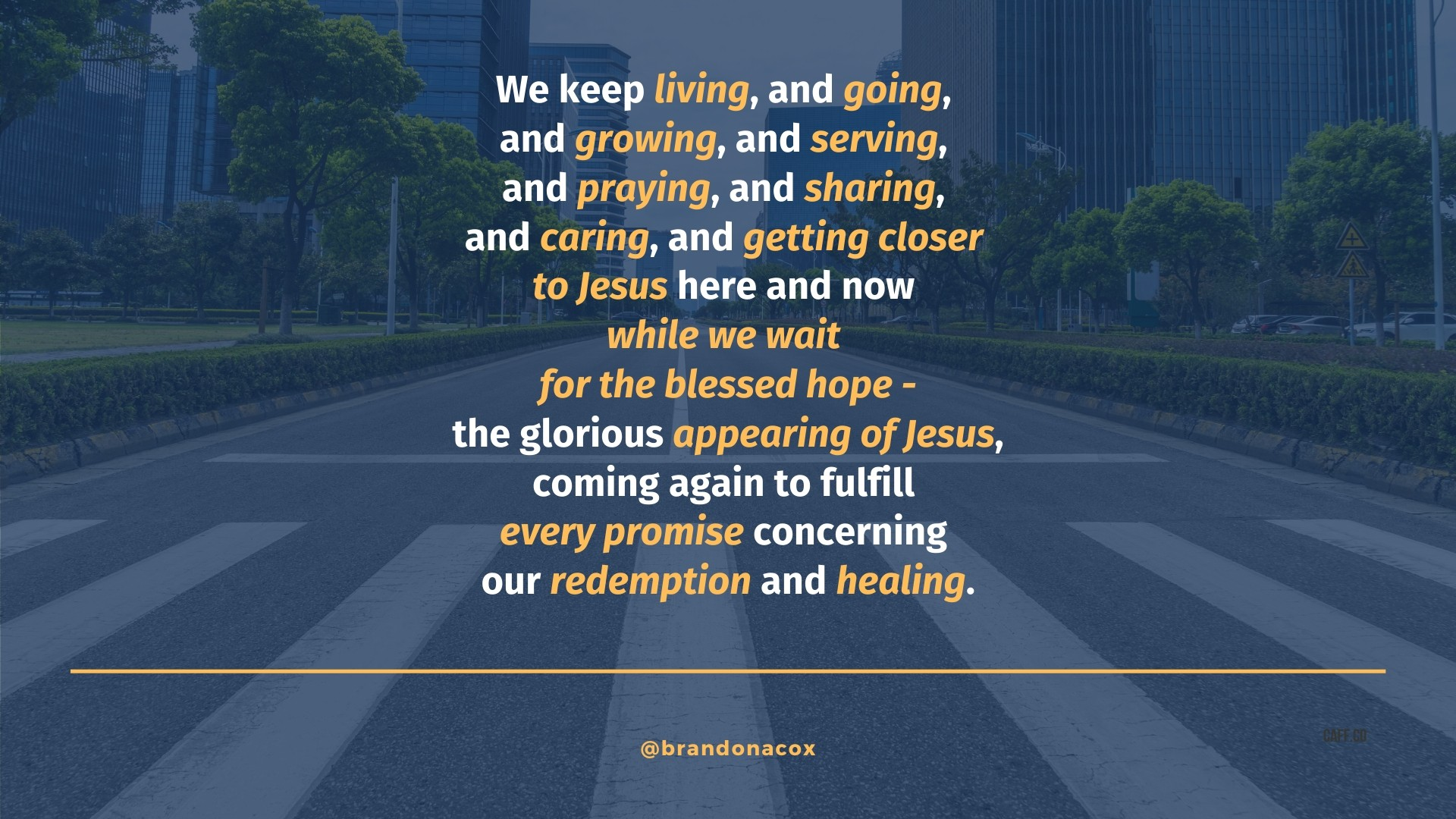 Blessed Hope of Jesus