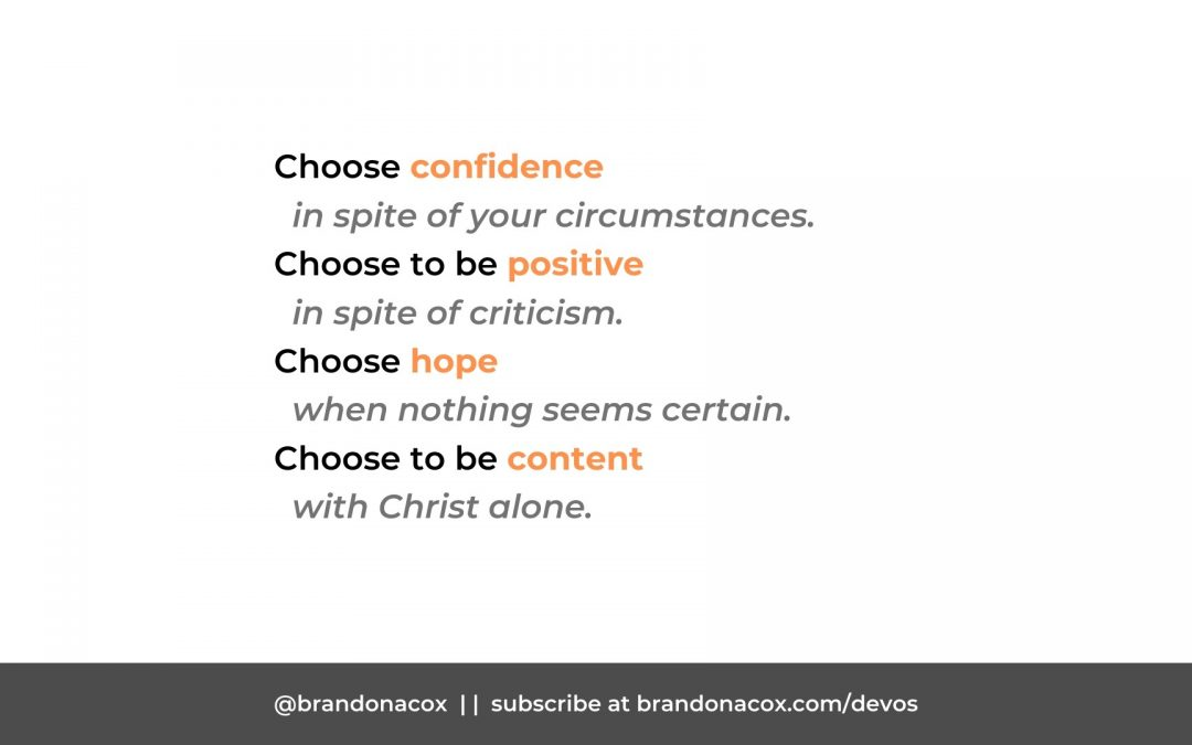 4 Attitudes You Can Choose Today