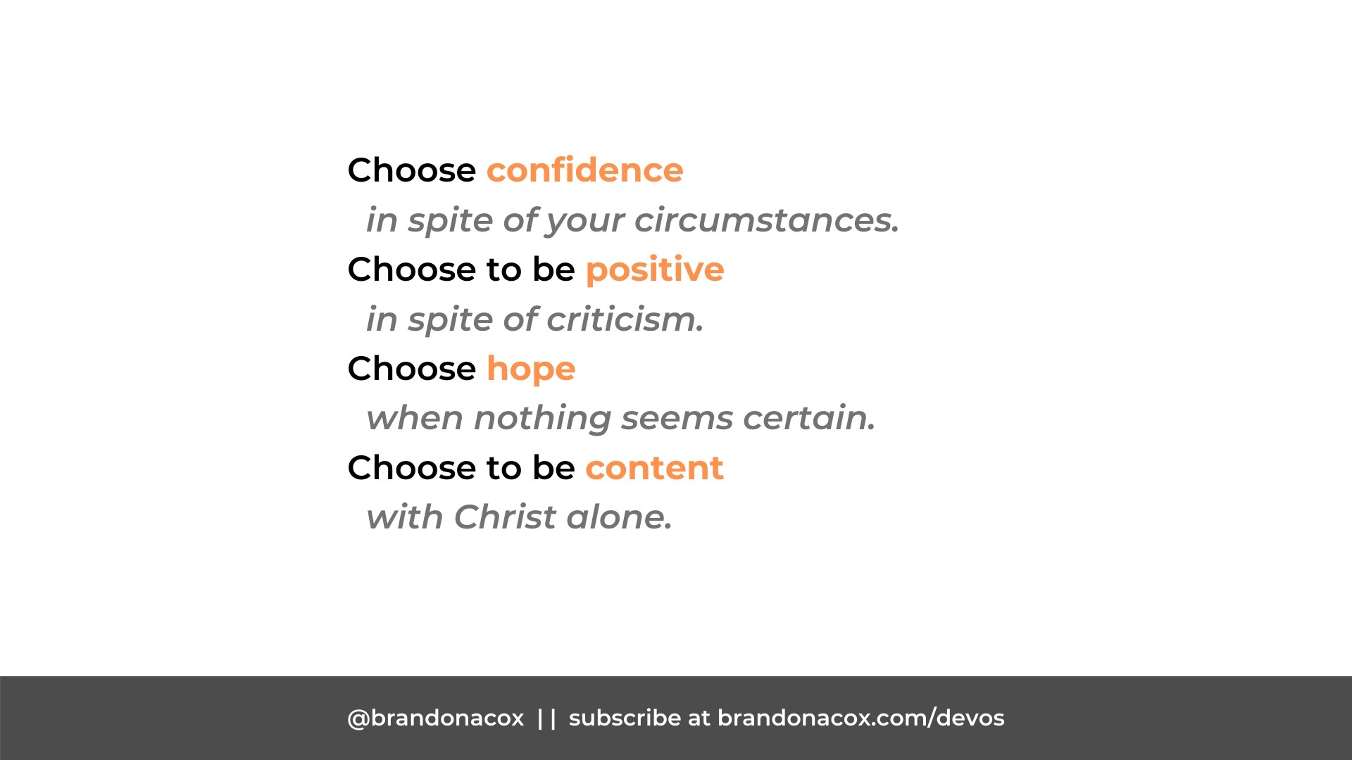 Choose Better Attitudes