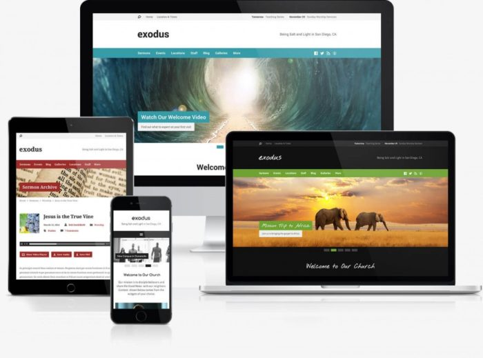 Exodus WordPress Theme for Churches