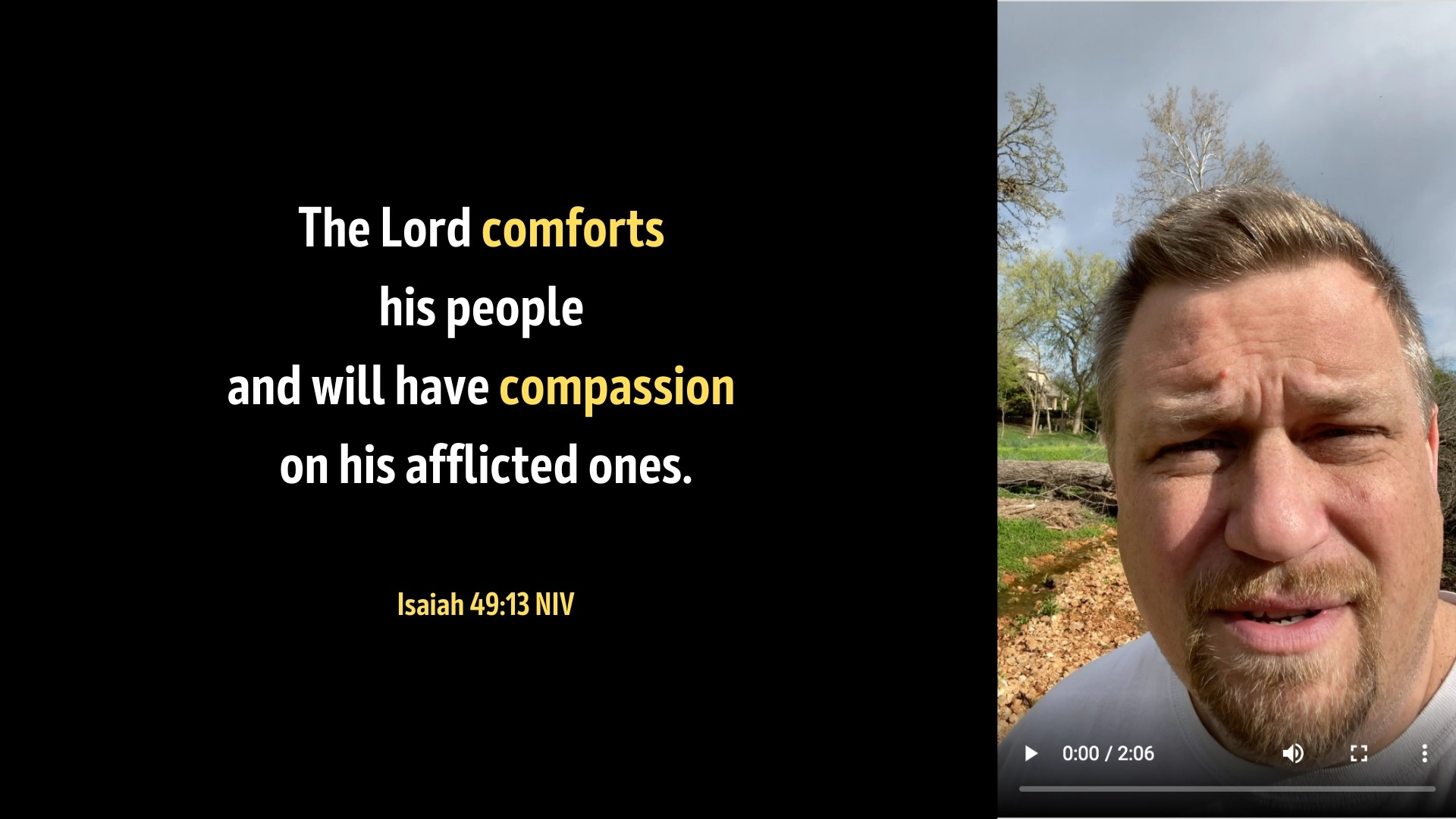 Comfort for the Afflicted