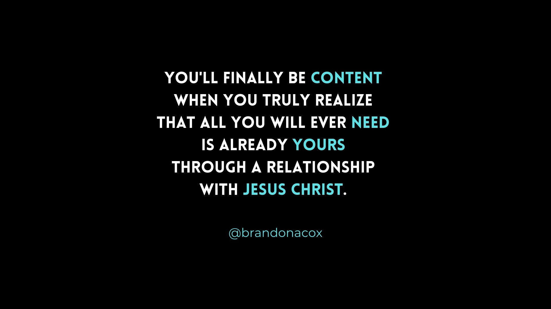 Content in Grace