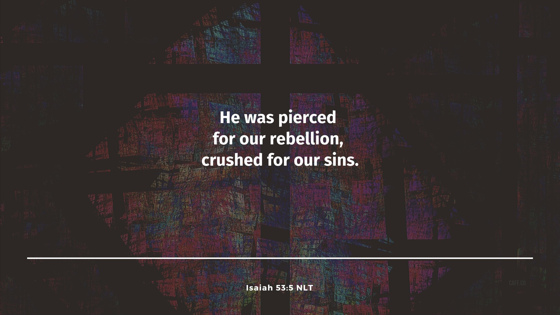 Crushed for Our Sins