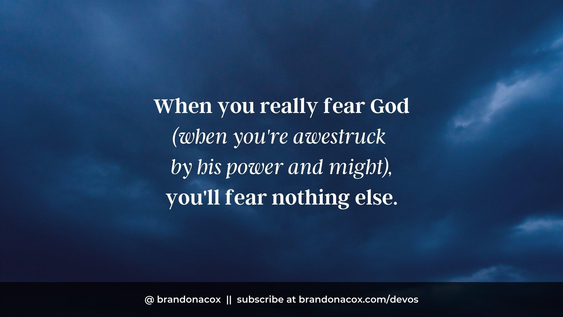 Fear God Fear Nothing