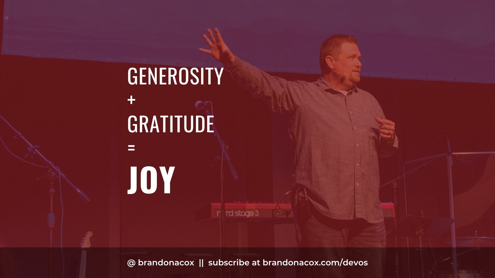 Generosity Gratitude Joy