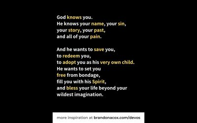 God Loves You with His Emotions