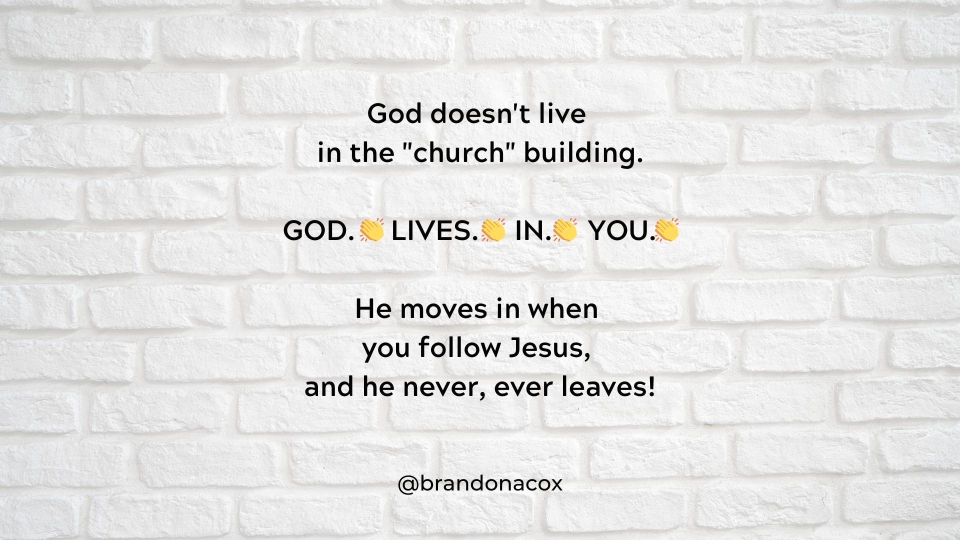 God Lives In You