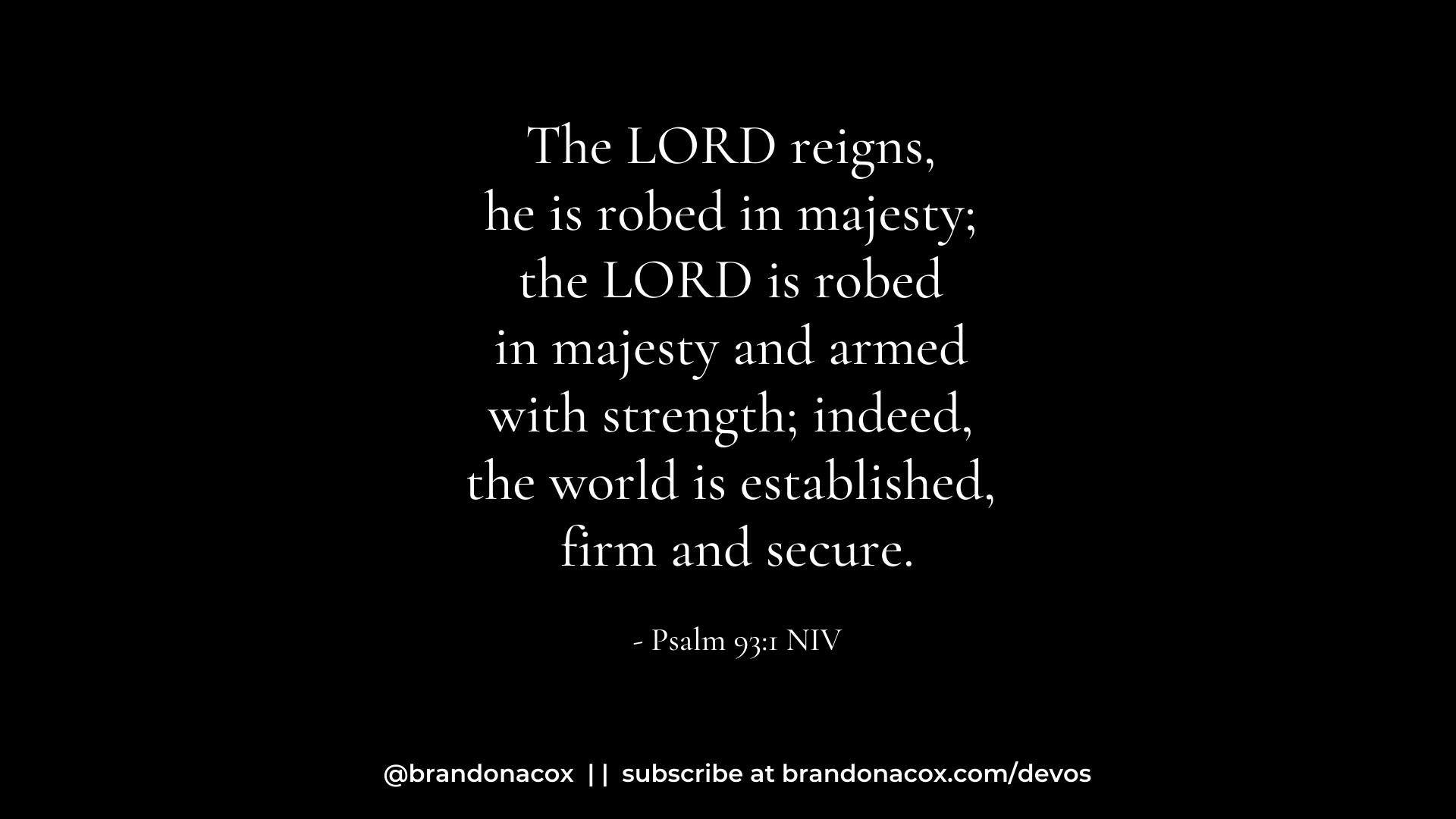 God On His Throne
