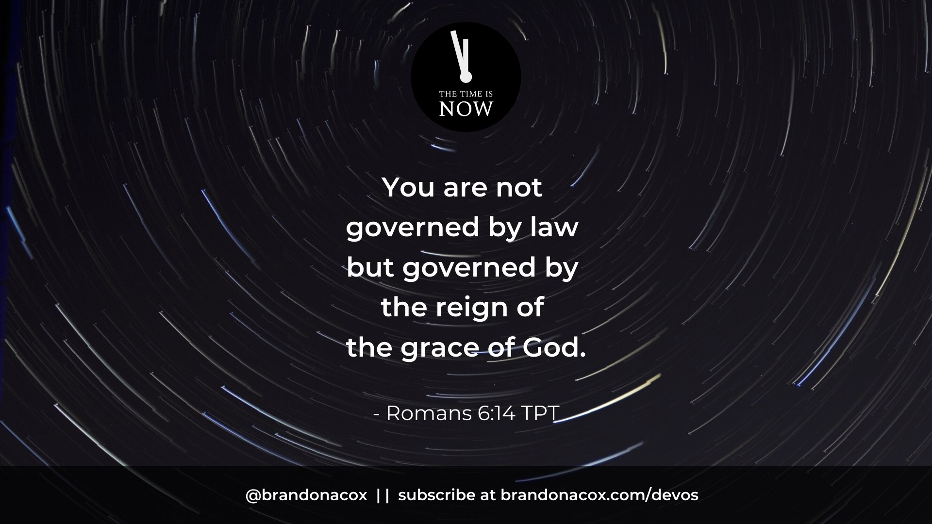 Governed by Grace