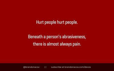 Remember: Hurt People Hurt People
