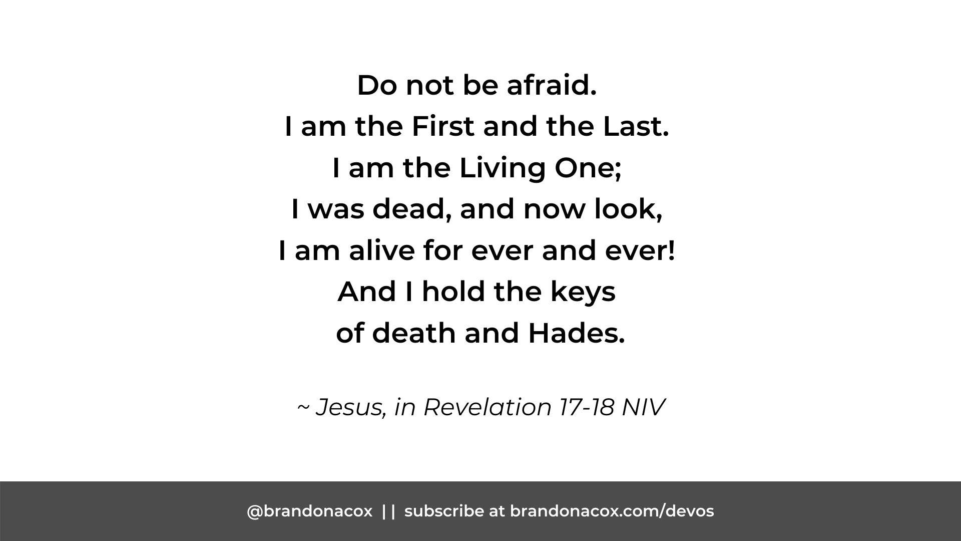 Jesus, the First and the Last