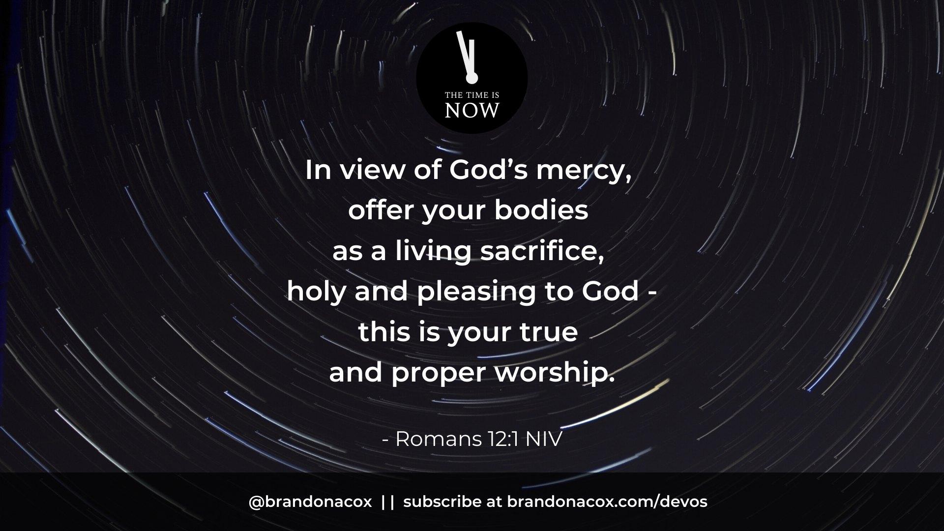 Be a Living Sacrifice