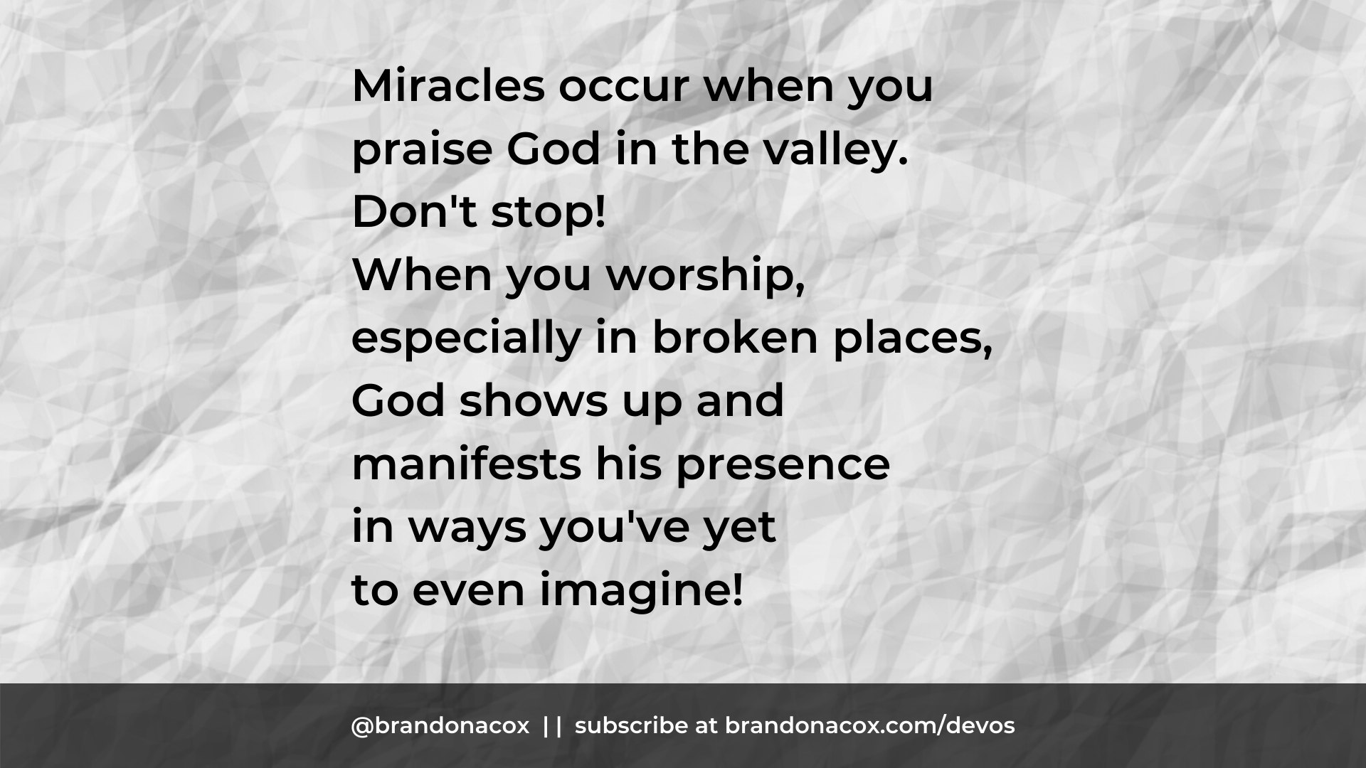 Praise in the Valley