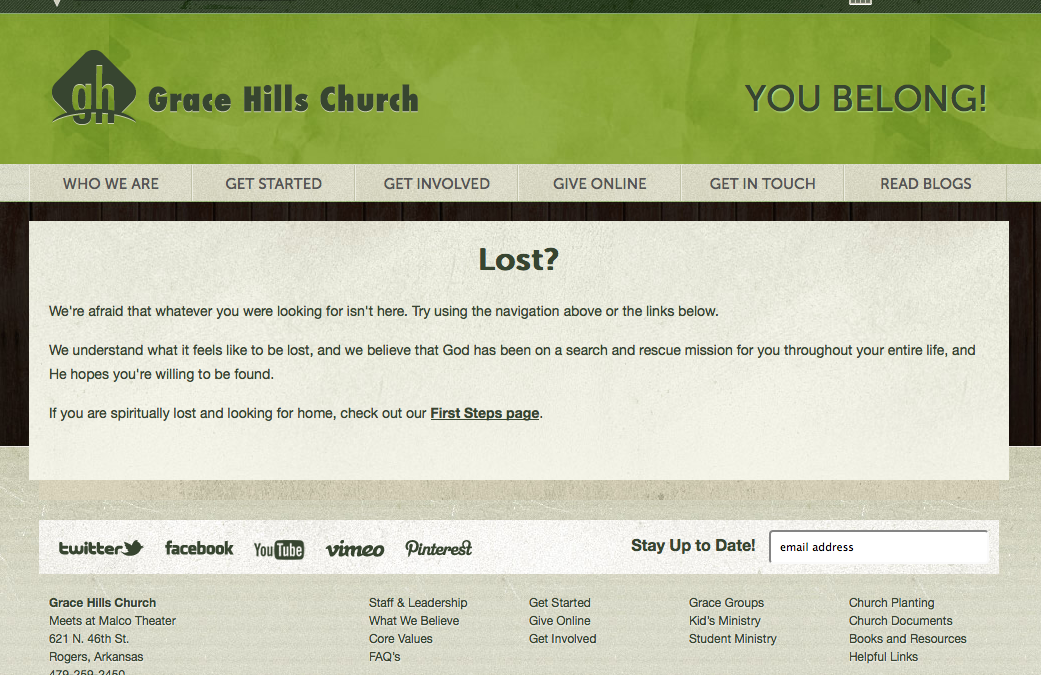 When People Are Lost… On Your Church Website