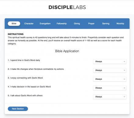 Free Discipleship and Spiritual Health Survey