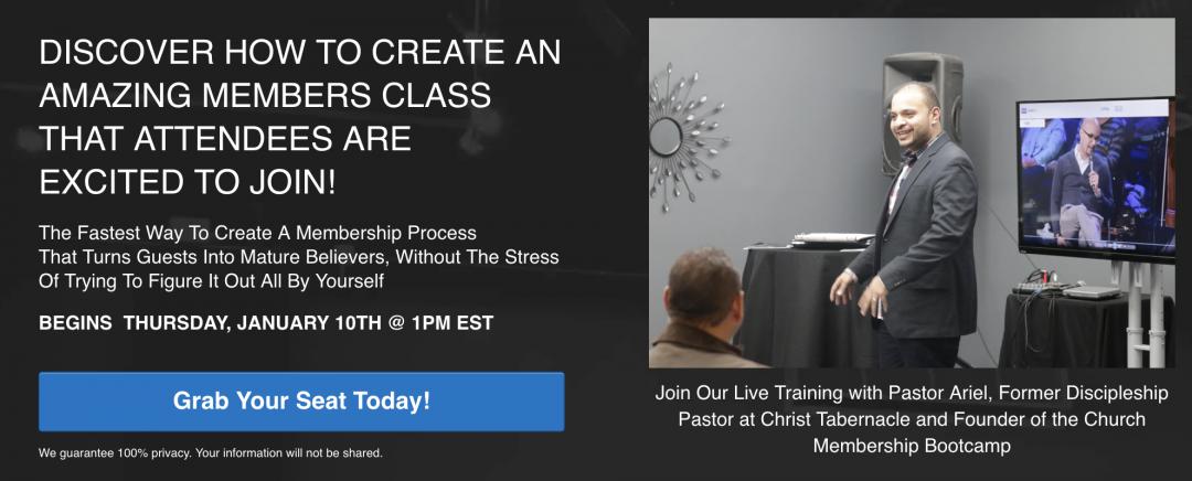 Free Church Membership Class Bootcamp