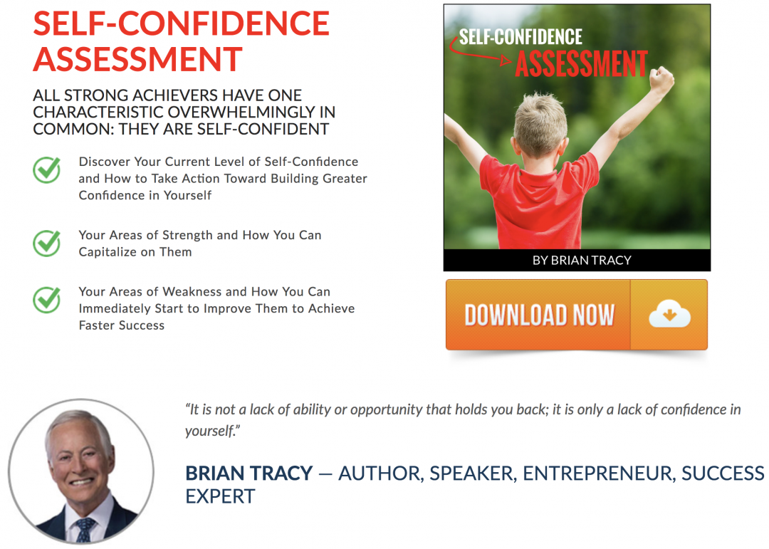 Take Brian Tracy's Self-Confidence Assessment