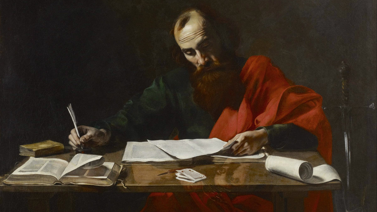 The Apostle Paul Writing Books
