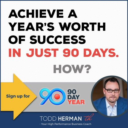 Todd Herman 90 Day Year Square