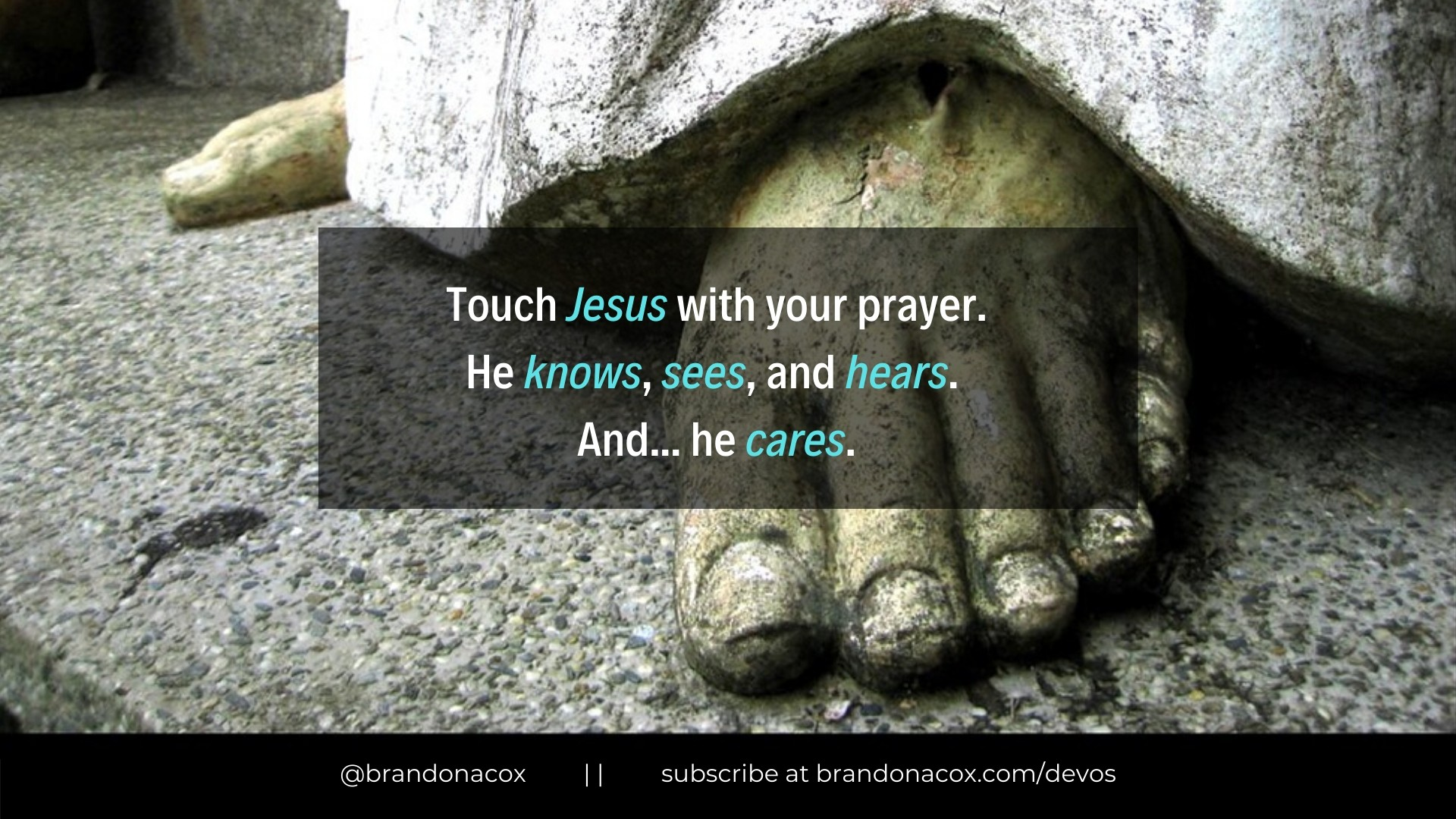 Touch Jesus with Prayer