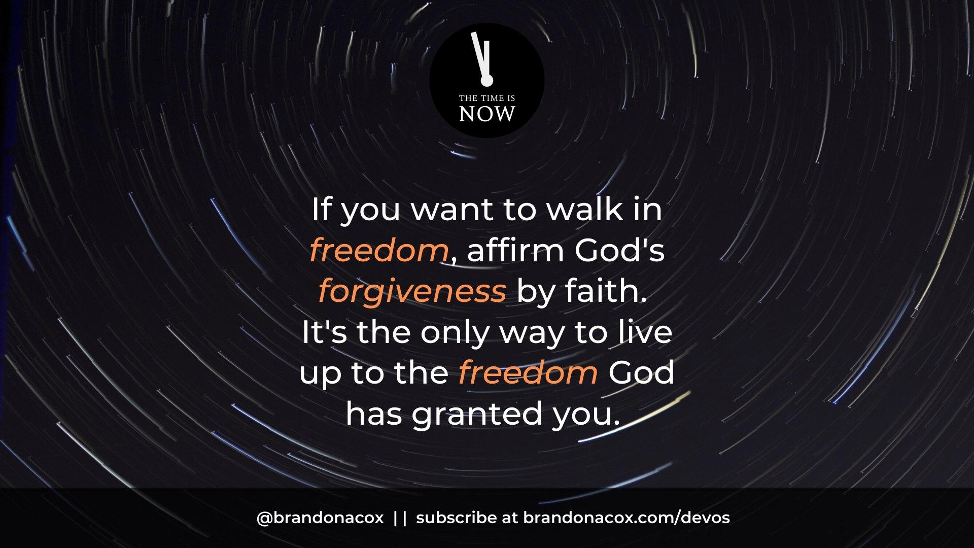 Walk in Forgiveness