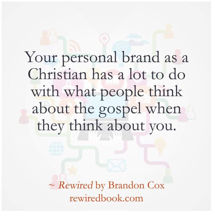 Your Brand Represents the Gospel